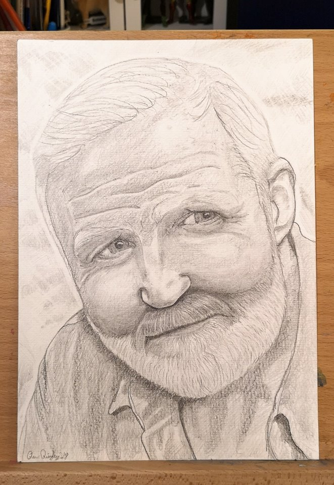 George McGavin Pencil Drawing by Glenn Quigley
