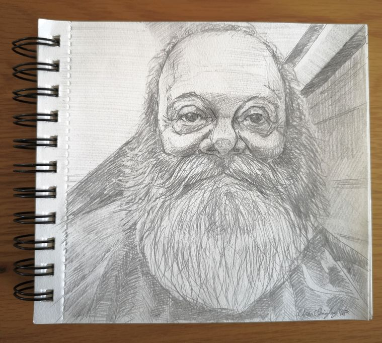 Pencil sketch Dermot Canavan 25th November 2018 WEB