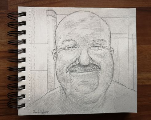 pencil sketch of Alan McAteer Nov 2018 WEB
