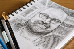 Self-portrait-pencil-Feb-2021-2
