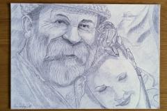 pencil-drawing-of-Dick-and-Angel-Strawbridge-22-23-Nov-2018-WEB