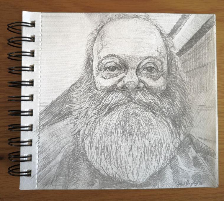 Pencil sketch Dermot Canavan 25th November 2018 WEB