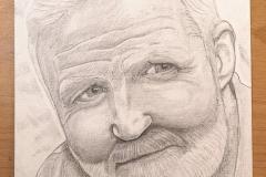 George McGavin Pencil Drawing by Glenn Quigley
