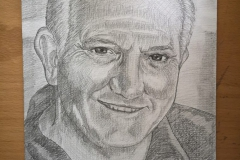 Graham Cole pencil drawing by Glenn Quigley