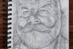 Pencil sketch of Ron Helsby 12st Dec 2018 FINAL