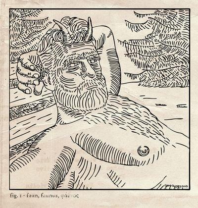 Faun - Woodcut - Glenn Quigley