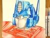 Optimus Prime Watercolour by Glenn Quigley