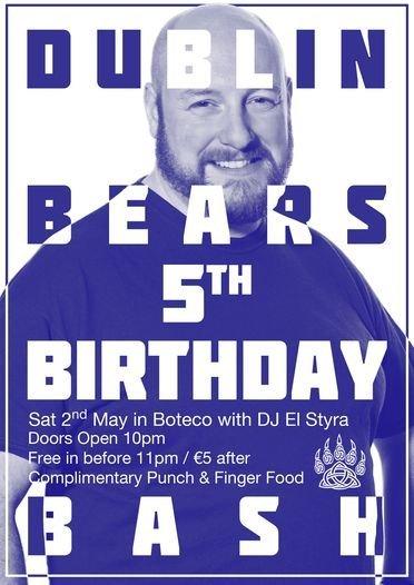 Dublin Bears Birthday