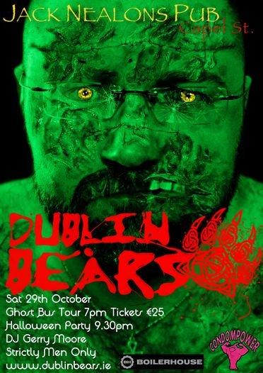 Dublin Bears halloween zombie