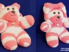 Pink & White Stripe Hood Bear 4web