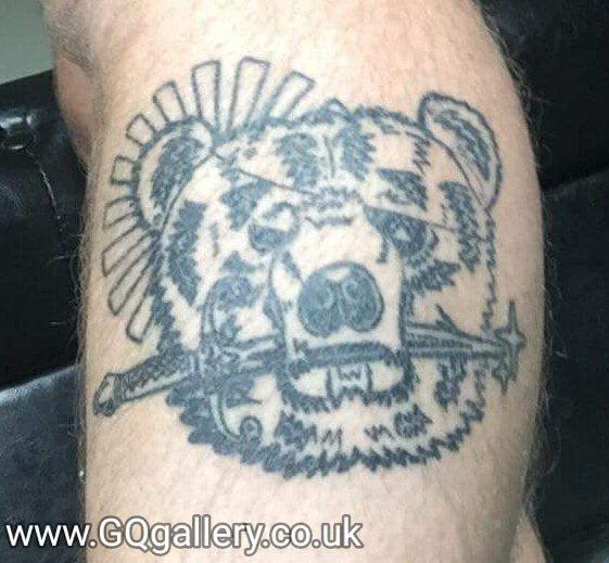 Pirate Bear tattoo - May 2017