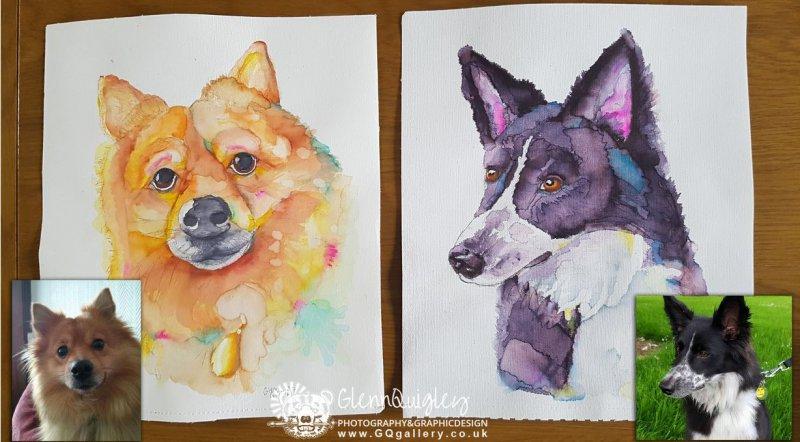 Bernard watercolour dogs Christmas 2017 web 1