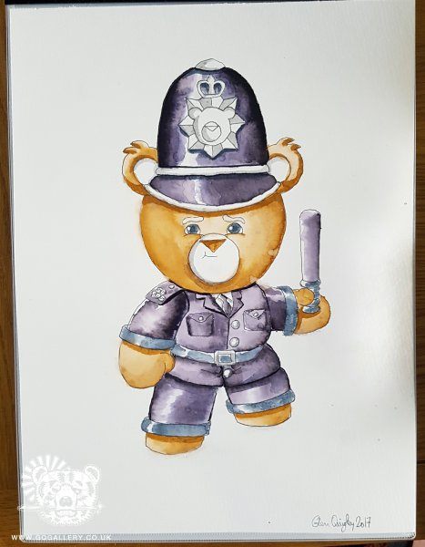 PC Bear watercolour painting by Glenn Quigley - May 2017 web