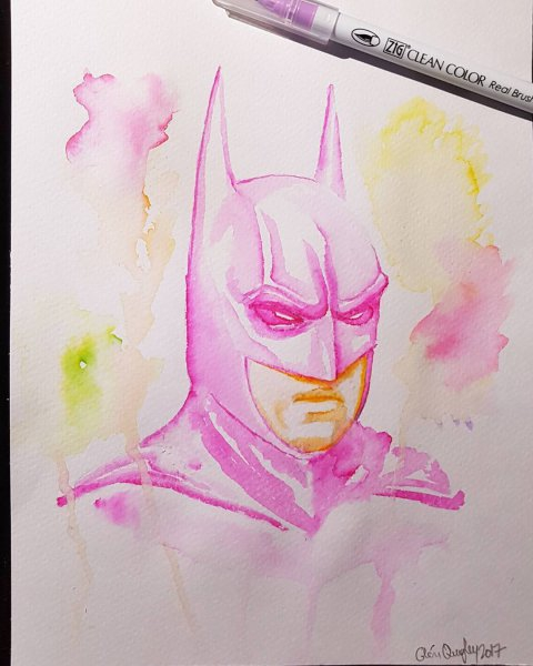 Pink Batman by Glenn Quigley