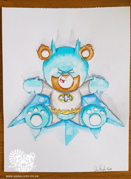 batbear watercolour painting by Glenn Quigley - May 2017 web