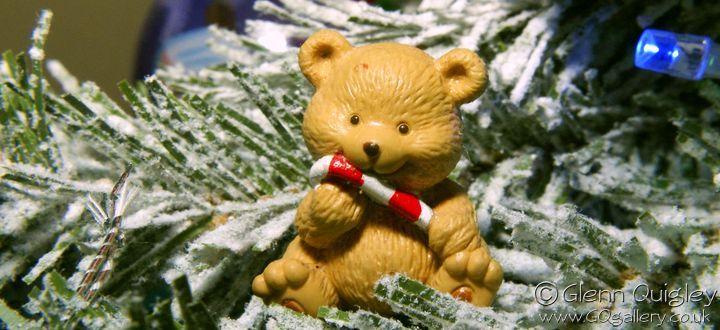 Teddy bear in a Christmas Tree