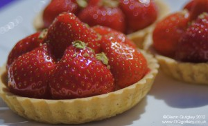 Strawberry Tart with Pistachio